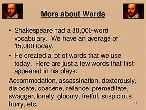 Phrases Shakespeare Invented