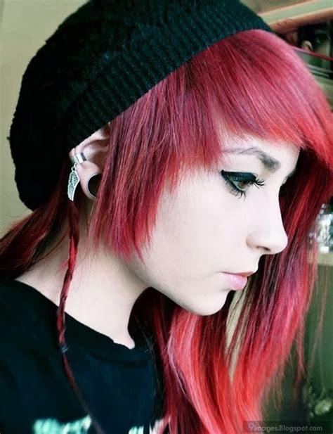 Beauty Emo Girl Red Hair Cute Scene Hood
