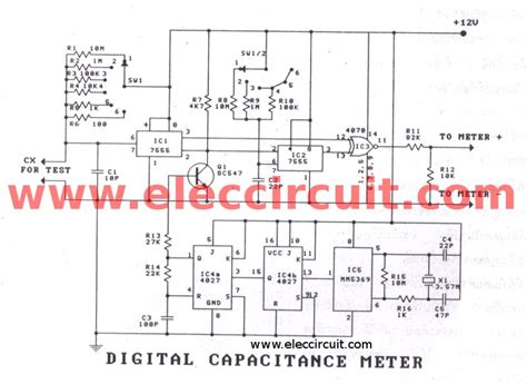 Digital Capacitor Meter Projects Easy Build