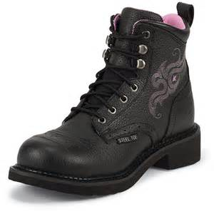 womens steel toe boots canada 39 s justin 6 quot steel toe boots 582231 cowboy boots at sportsman 39 s guide