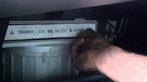 change cabin air filter   mitsubishi lancer