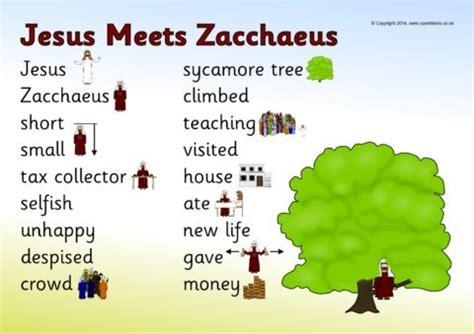 zacchaeus word mat sb sparklebox