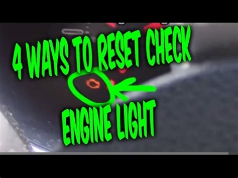 2004 dodge neon check engine light codes how to reset the check engine light on the dodge neon