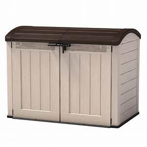 keter garten box universalbox mulltonnenbox fahrradbox With französischer balkon mit keter garten