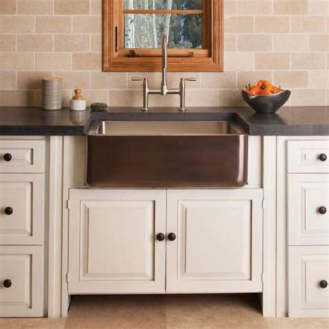 kitchen sinks cabinets copper stainless forest 2987