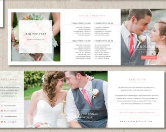 Product And Pricing Guide Accordion Psd Template For By Wedding Photographer Pricing Guide Template Vista Print Rack