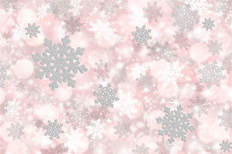 Silver Pink Snowflake Background by Royalty Free Soft Pink Snowflake Background Pictures