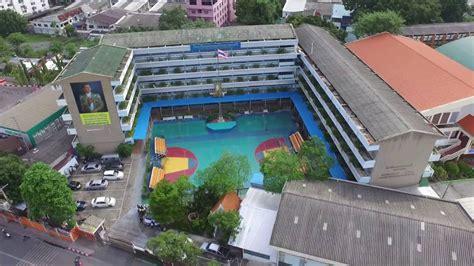 ภาพมุมสูงโรงเรียนมัธยมบ้านบางกะปิ - YouTube