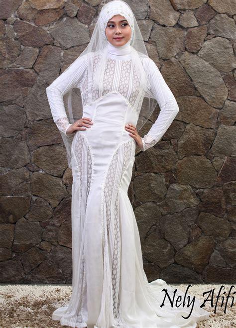 glamour wedding dress muslimah