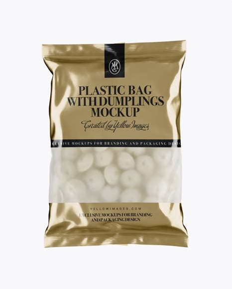 Used in stores, they make it easy for customers to carry out purchases. Frosted Plastic Bag With Dumplings & Glossy Finish Mockup ...