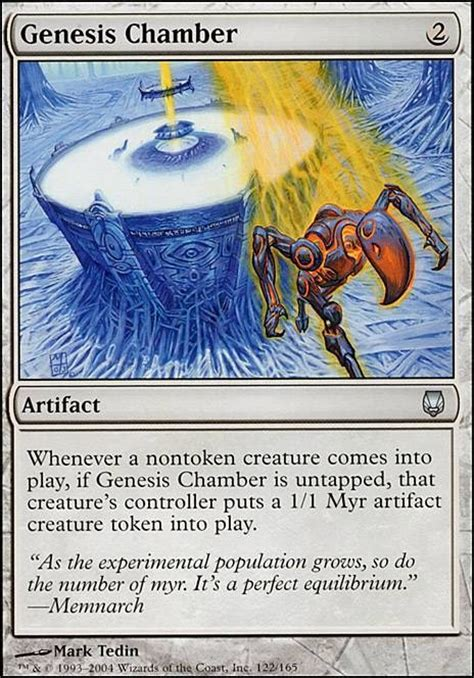 Mtg Myr Deck Tappedout by Genesis Chamber Dst Mtg Card