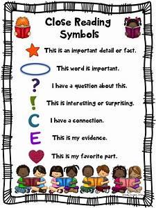 Close Reading Symbol Charts  Fiction  U0026 Nonfiction  Back To School  Any Topic