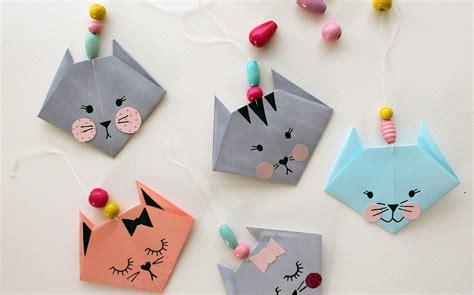 easy origami cat fun crafts kids