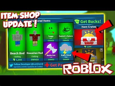code  item shop update  roblox fortnite island