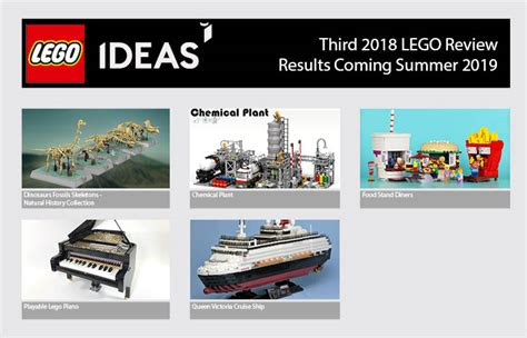 lego ideas 2018 five projects qualify for third 2018 lego ideas review stage the brick fan
