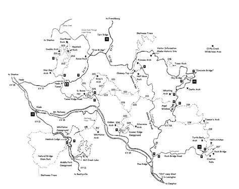 maps  red river gorge