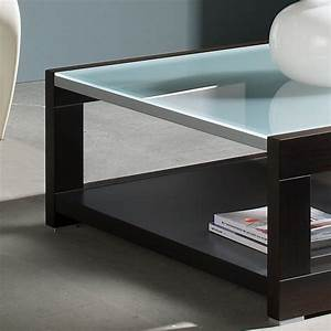 Table Basse Carrée Verre : table basse carr e bois et verre mobilier ~ Teatrodelosmanantiales.com Idées de Décoration