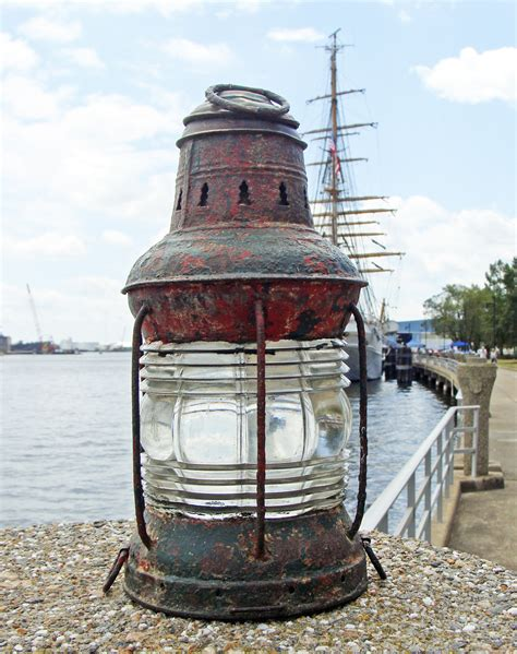 Old Boat Lights by Antique Triplex Anchor Lantern Skipjack Nautical Wares