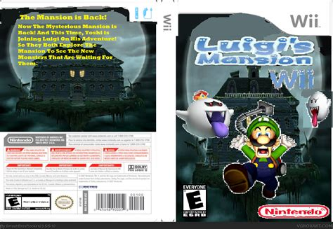 luigis mansion wii wii box art cover  smashbrosrocks