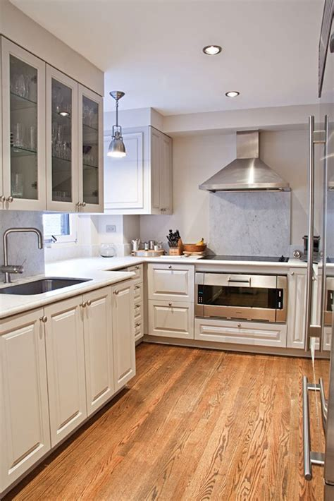 kitchen hardwood floors contemporary kitchen