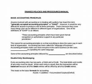 Sample Accounting Manual Template