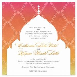 wedding invitations indian temple at mintedcom With indian wedding invitations minted