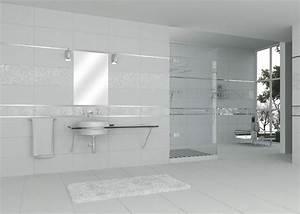 Carrelage Salle De Bain Blanc : carrelage salle de bain blanc mat ~ Melissatoandfro.com Idées de Décoration