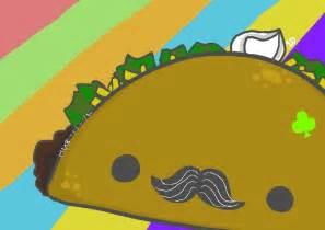 Cartoon Taco with Mustache