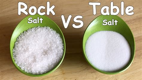 mineral salt vs table salt homemade ice cream rock salt vs regular salt plastic bag