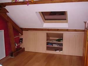 portes coulissantes sous pente 5 placards sous combles With porte de placard sous comble