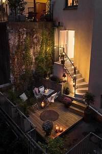 traumhafter beleuchteter balkon fur gemutliche abende With balkon ideen pinterest
