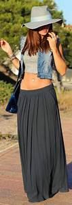 Tenue Tendance Femme : comment porter une jupe longue tenue de plage style fashion et dresses ~ Melissatoandfro.com Idées de Décoration
