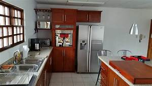 Mueble, De, Cocina, Con, Isla, Personalizada