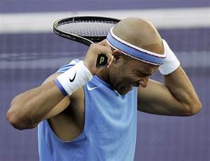 Fame's Backhand Hits Tennis Player James Blake in Tampa ...