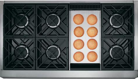 ge monogram zgpndrss   gas freestanding range  sealed burner cooktop  cu ft