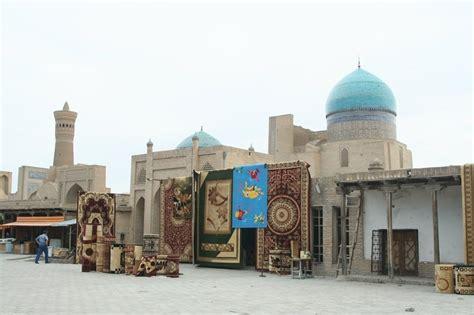 tappeti uzbekistan bukhara bazar dei tappeti lungo khodja nurobod viaggi