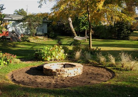 pit landscaping fire pit diy