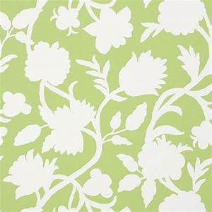 Papier Peint Fleuri : papier peint vert motif fleuri cabrera thibaut au fil ~ Premium-room.com Idées de Décoration
