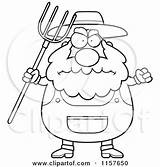 Farmer Clipart Pitchfork Cartoon Anger Angry Waving Coloring Plump Cory Thoman Vector Outlined Royalty Rf Illustrations 2021 Clipartof sketch template