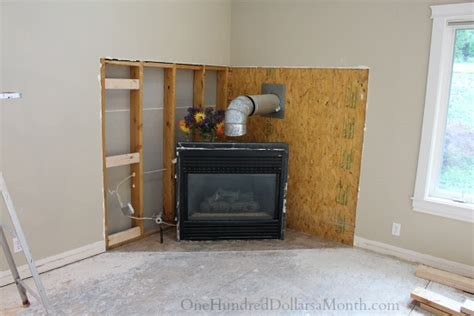 My Ugly, Outdated Corner Fireplace Gets Demolished One