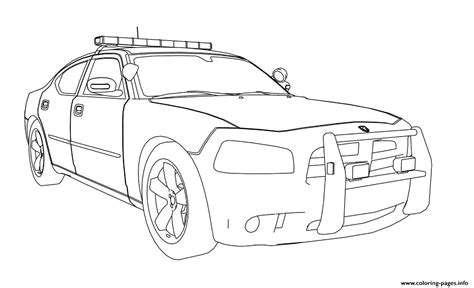 dodge preschool dodge charger car coloring pages printable 975