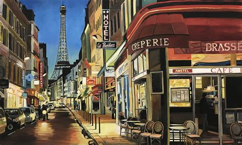 paris cafe  eiffel tower france  angela wakefield