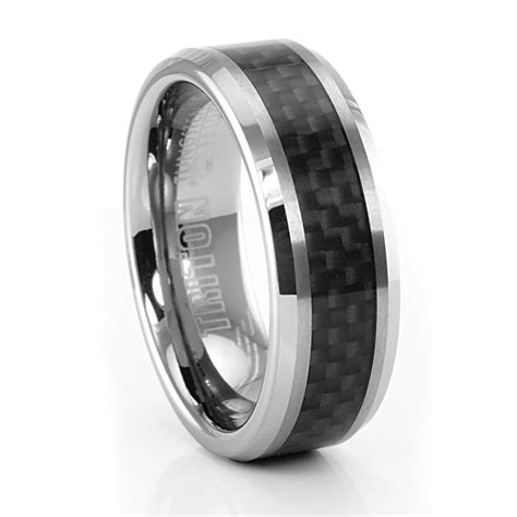 2018 Latest Mens Carbon Fiber Wedding Rings