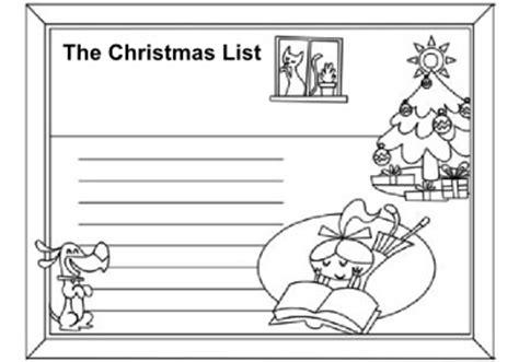 Christmas Wish List Coloring Page - Democraciaejustica