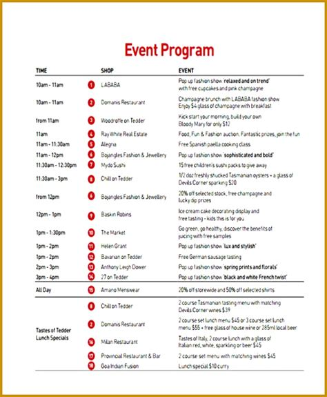 fundraiser event program template fabtemplatez