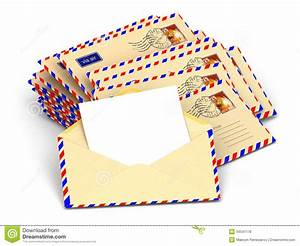 Mail Stack Envelopes And Empty Letters Stock
