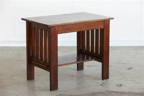 mission style desk for sale arts and crafts mission style oak library table for sale