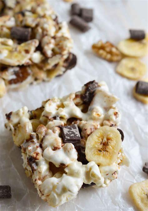 chunky monkey popcorn bars wonkywonderful