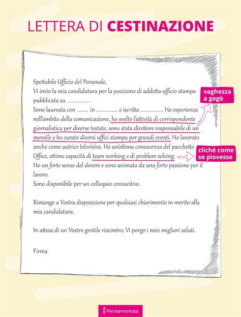 Lettera All Ufficio Personale by Lettera Di Presentazione Per Copy Una Storia Tanti Esempi