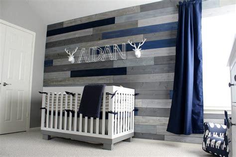 modern navy  grey rustic nursery project nursery
